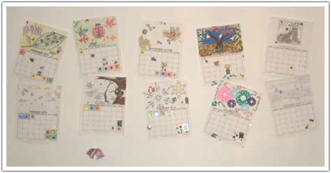 Decorated Calendars on display
