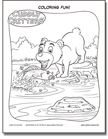 Preview of Coloring Fun! - Cuddly Critters™ own Buster Bear