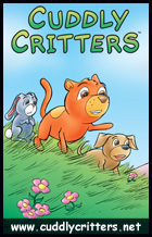 Ad for Cuddly Critters, www.cuddlycritters.net